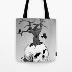 Skull and Tree Tote Bag