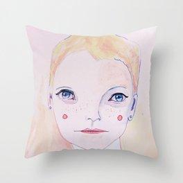 Mia Farrow Throw Pillow