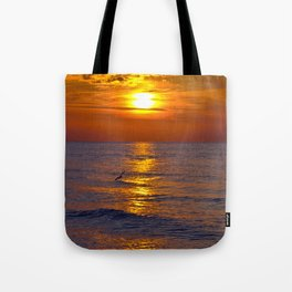 Red Evening Sun Tote Bag