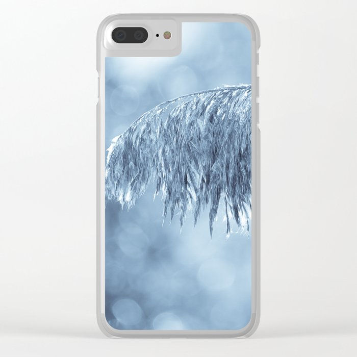 Winter leaf Clear iPhone Case