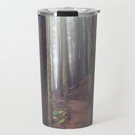 Foggy Forest Path Travel Mug