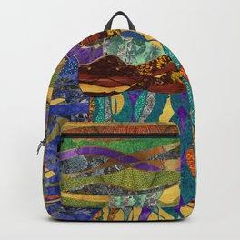 gold earthy landscape Backpack