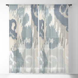 Beach Curry II Sheer Curtain