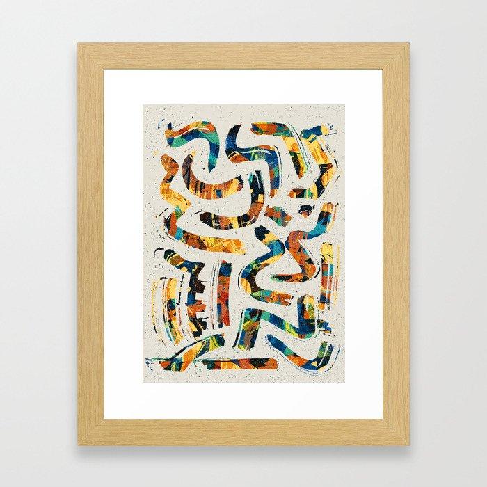 Pattern № 68 Framed Art Print