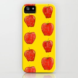 Red Remarkable Apple Pattern iPhone Case