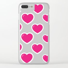 STUDDED HEART Clear iPhone Case