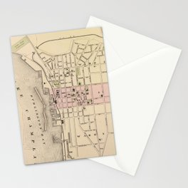 Vintage Map of Burlington Vermont (1873) Stationery Cards