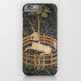 HD Trapped Unicorn Medieval Tapestry iPhone Case