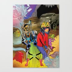 Living In a World of Monsters Canvas Print