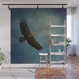 Young Bald Eagle Soaring in the Sky Wall Mural