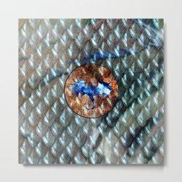 Dragon Scale Pattern Viserion Metal Print
