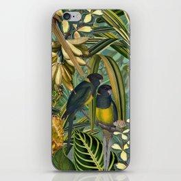 Vintage & Shabby Chic - Green Tropical Bird Flower Garden iPhone Skin