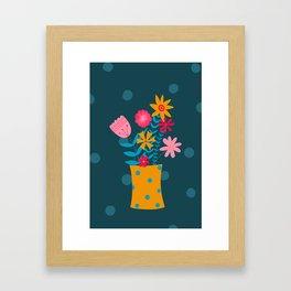 Spotty Flowers Framed Art Print