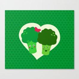 Broccoli in love Canvas Print