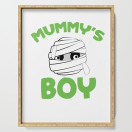 Mummy's Boy Halloween For Boys Trick Or Treat Gift Serving Tray