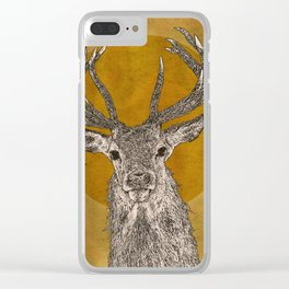 Stag Head Clear iPhone Case