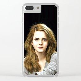 Emma Watson - Celebrity Art Clear iPhone Case