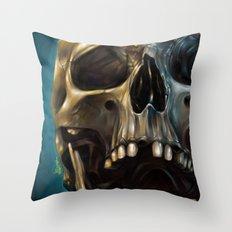Skull 4 Throw Pillow