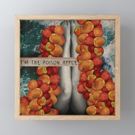 Poison Apple - Digital Statement Collage Framed Mini Art Print