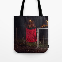 A Good Place To Start, The Unravel, Silk Graffiti by Aubrie Costello Tote Bag