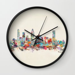 Montreal Quebec skyline Wall Clock
