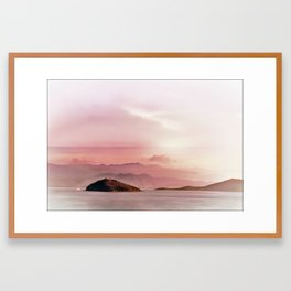 Islands in the distance Framed Art Print