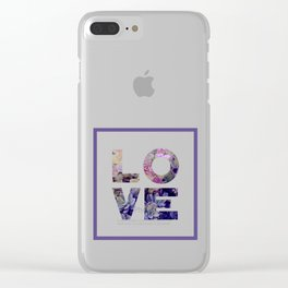 Succulent Uv LOVE #society6 #love #ultraviolet Clear iPhone Case