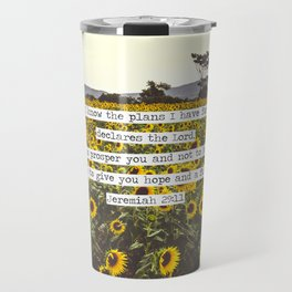 Jeremiah Sunflowers Travel Mug