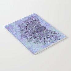 Doodle Peacock Purple Notebook