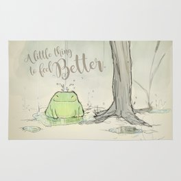 The frog under the rain 2 Rug