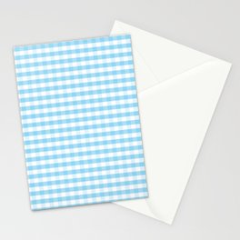 Blue and white plaids Stationery Cards