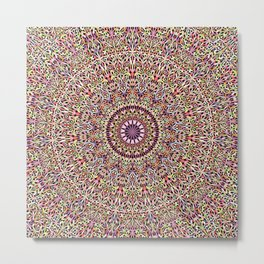 Magical Mandala Garden Metal Print