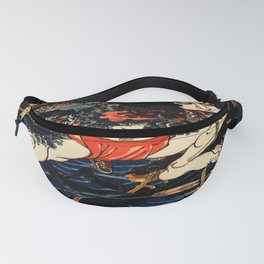 The Tattooed Samurai Traditional Japanese Character Fanny Pack