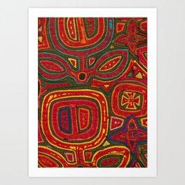 Kunas artwork Art Print