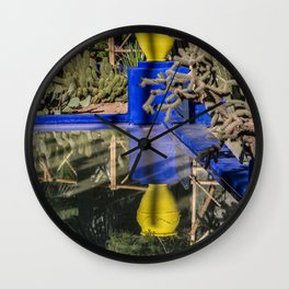 Majorelle Garden Reflection Wall Clock