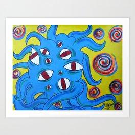 Eyeball Monster Art Print
