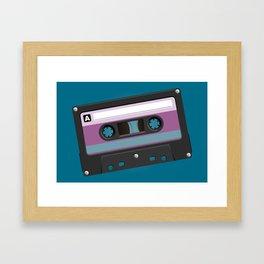 Black Cassete Framed Art Print
