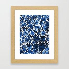 Sophia Floral Blue Framed Art Print