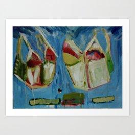 Flying Corsets Art Print
