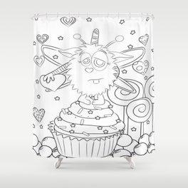 SugarPuff Shower Curtain