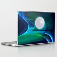 moon phase Laptop & iPad Skins featuring Dream Phase by Youlia91