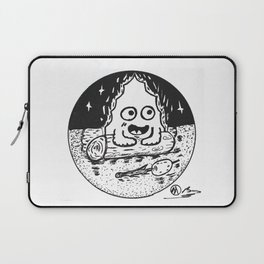 """Campfire Carl"" by Dark Mountain Arts Laptop Sleeve"
