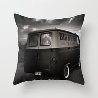 ford Throw Pillows featuring old ford by Joedunnz