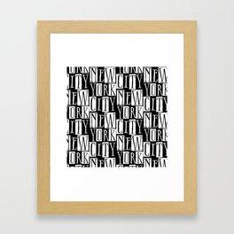 In a New York City Frame of Mind Framed Art Print