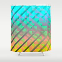 hologram Shower Curtains featuring holo1 by N-E-R-V