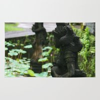 hindu Area & Throw Rugs featuring Bali - Hindu Goddess Statues by gdesai