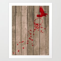 And the birds shall feast... Art Print