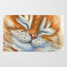 Sleeping Ginger Kitten A092 Rug