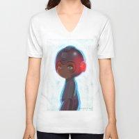 mega man V-neck T-shirts featuring Mega Man 25th Anniversary by jaimito