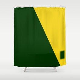 Green-Yellow Shower Curtain
